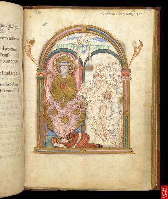 Un psautier du 10ème. Typique du manuscrit de main, livre de prières.