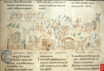 version romane du psaultier ; détail d'une vie extraordinaire.