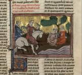 14, artus de bretagne, Maître de Fauvel,Jehannette et sa mère près de l'étang