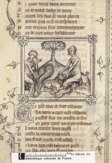 Comme  De Diguleville, Guillaume de Machaut se met en scène dans ses textes et chants, autour du thème de l'initiation amoureuse et philosophique. Le genre d'illustration tend à se stabiliser.
