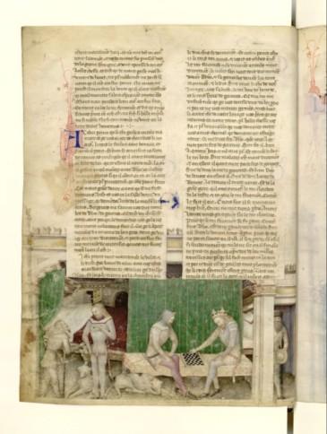 toujours le même manuscrit, ici une scène d'intérieur.
