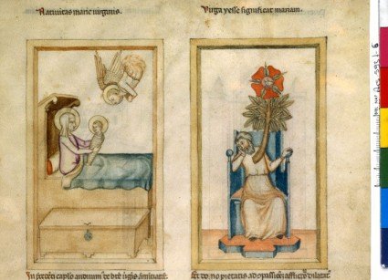 Même type de manuscrit et même sujet, traité à l'italienne.