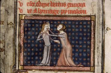 Le romande la rose, de Guillaume de Lorris et Jean de Meung, le plus répandu des romans d'initiation, mêle légendes et mythes grecs au récit. Les mythes de Narcisse et Pygmalion posent aussi la question récurrente de l'image.