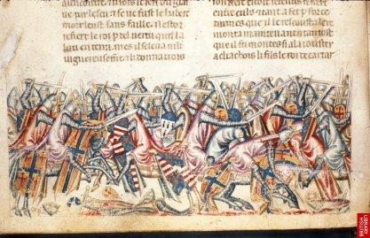 détail d'une page du manuscrit précédent( Naples,14e). Scène de bataille entre grecs et troyens!! </p><br /><br /><br /><br /><br /><br /><br /><br /><br /><br /><br /><br /><br /><br /><br /><br /><br /><br /><br /><br /><br /><br /><br /><br /><br /><br /><br /><br /><br /><br /><br /> <p>