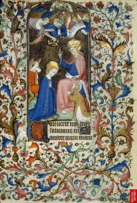 Livre d'heures ( Troyes) Ici encore le style dominant, français.