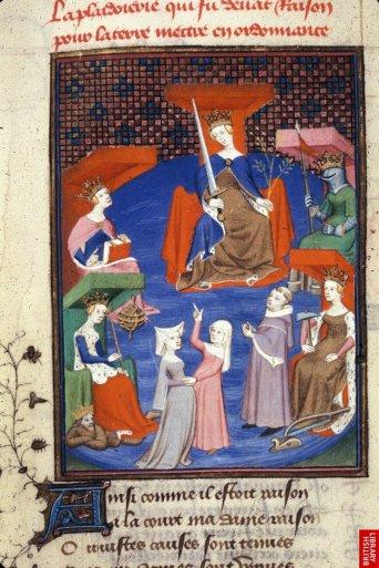 Christine de Pisan, une page du Chemin de longue étude....tout un programme sur la culture et l'initiation ; claire naissance d'un humanisme éclairé.
