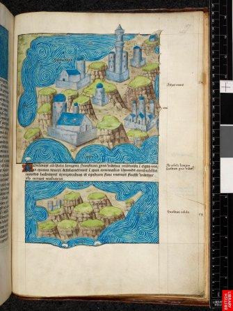 D'après Diodorede Sicile, un atlas complet de toutes les îles greques....maîtrise progressive de l'espace réel et de l'espace figuré,; conquète du monde.