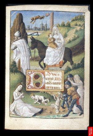livre d'heure romain....Les manuscrits deviennentdes tableaux sur papier ; il y a unité de style croissante, de la fresque au tableau jusqu'à l'enluminure,en Italie.