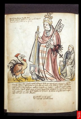 15ème, Chronique allemande antipapiste, assez représentative du style graphique.