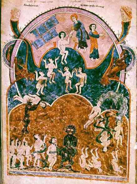 Cette scène extraite du Beatus de gerona, sera l'une des sources iconographiques de tous les Jugements derniers qui seront le motif essentiel des tympans romans , entre autres.