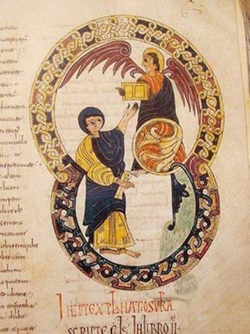 Beatus de Tabara ( sans doute illustré par la moniale Ende) Ici, la réceprion du LIVRE.