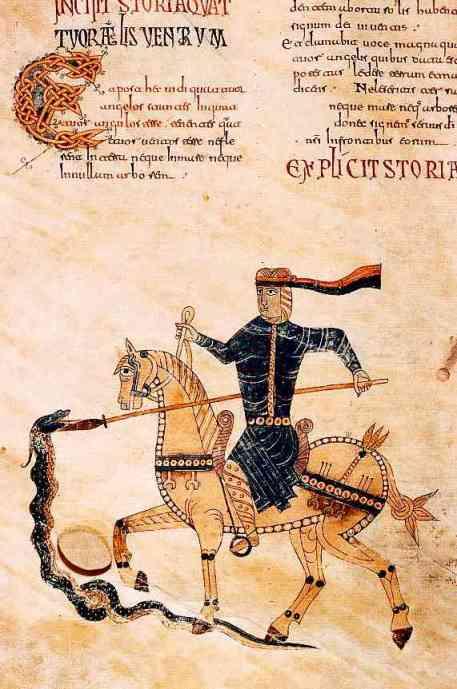 Beatus de Gerona, ici aussi, le cavalier blanc, épée à la main, brisant le sceau.