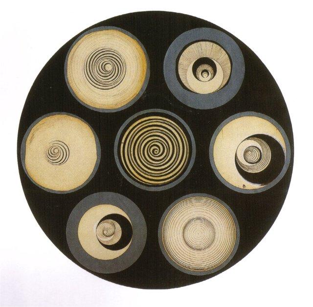 ces disques et rotoreliefs de Duchamp, rapellent les témoins oculistes et la puissance hypnotique du regard concentré...dans tous les sens du terme, sur son objet/désir.