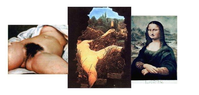 Courbet-Duchamp-Vinci : questions croisées sur l'identité sexuelle, le désir, le point de vue, le réalisme et/ou l'idéal....
