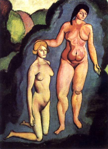 """Duchamp, ici dans """"le buisson"""" - qui sera le nuage ou la voie lactée, adoubement de la vierge par la mariée, par contact."""