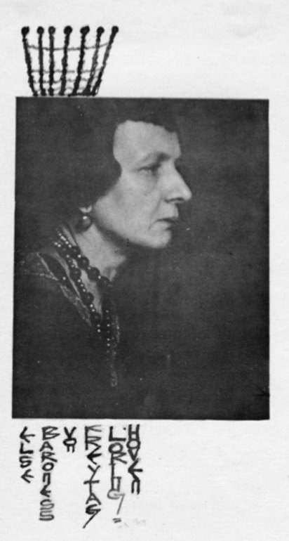 Portrait de Elsa von Freytag, peu avant son suicide. Elsa fut aussi poète.