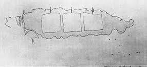 le dessin des 9 coups tirés, dont un seul pénètre le nuage/voie lactée...