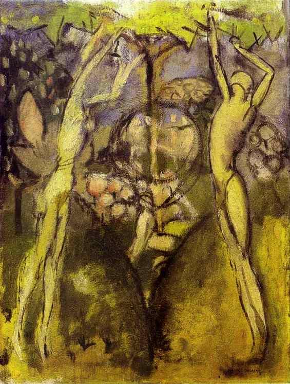 Marcel Duchamp, jeune homme et jeune fille, 1911, autour de l'arbre..