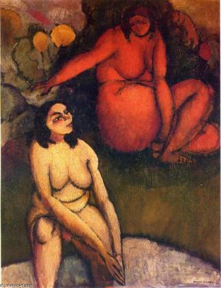 Le Baptême, Marcel Duchamp ; une version explicite de la notion d'initiation, que relève justement Jean Clair. Ici encore, le contact de la main sur la tête estretenu.