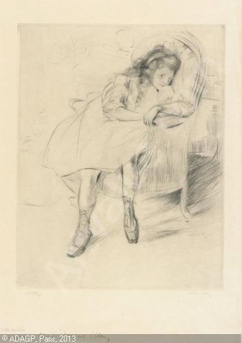 Madeleine Duchamp, dessinée par Jacques Duchamp-Villon ; sous le titre de madeleine au fauteuil. Une première Madeleine Duchamp, aînée de Marcel est décédée dans l'enfance.