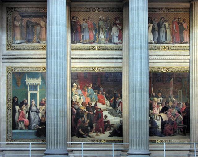 Cabanel, le chantre du pouvoir dominant au19ème, autour de L.N.III ; archétype du mâle dominant, qui se perpétue jusqu'à nos jours est l'un des illustrateurs des fresques du Panthéon.