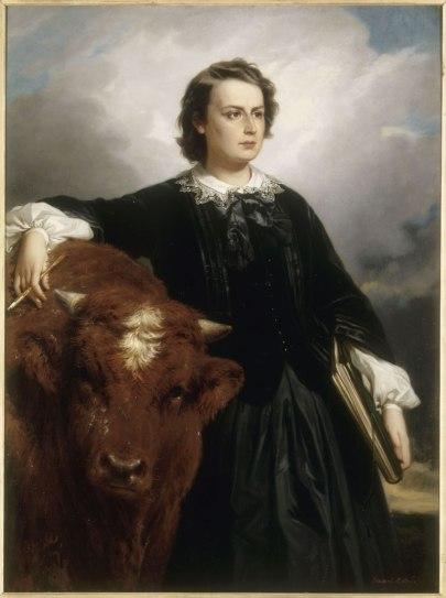 Rosa Bonheur, de Thomery ( 77) très célèbre peintre animalière. Femme très libre et audacieuse, imposant son humanisme grâce à sa notoriété.
