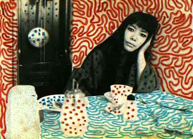 Yayoi Kusame, au coeur de toutes ses oeuvres, il n'y a pas de frontières entre sa personne et son monde transformé.