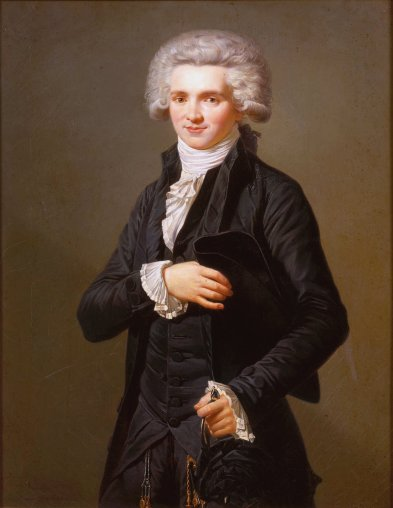 Adélaïde Labille Guyard ; ce portrait de M. De Robespierre témoigne de la présence réelle de femmes artistes reconnues de leur vivant, grâce cette fois ci aux progrès culturels de la Révolution ; c'est David qui ouvre les ateliers aux femmes.