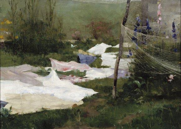 Linge séchant au sol de Hélène Schjerfbeck, la virtuose.