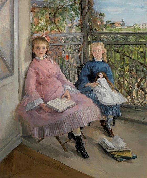 ag Eva Gonzalès (French artist, 1849–1883) La fenetre