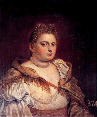 Antonietta Robusti, autoportrait, 16e siècle.