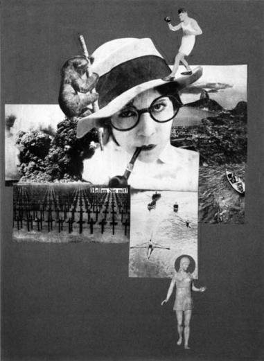 utoportrait de Marianne Brandt, plasticienne et designer du Bauhaus ; ici le photomontage ironise sur les univers masculins dominant le début du siècle.