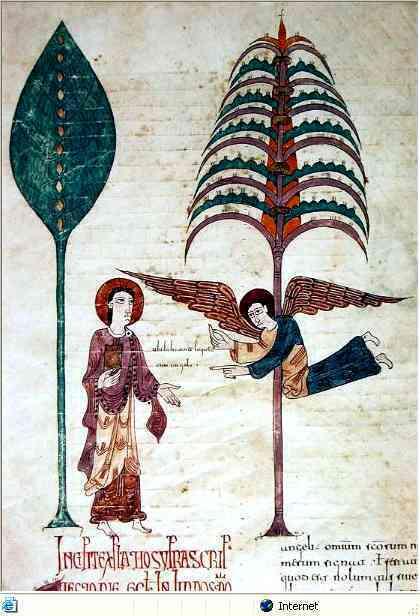 Le Beatus ( commentaire de l'apocalypse, 8e s) ; ici dans cette version du 9e siècle, est une oeuvre dans laquelle une certaine moniale, Ende a eu une participation notable ; il est vraisemblable que ce cas ne soit pas isolé.