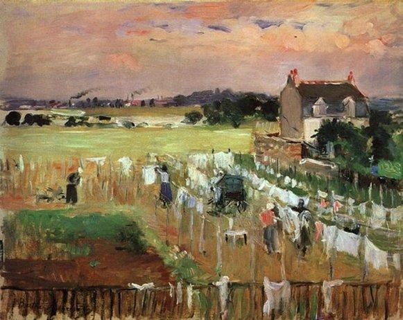 Berthe Morisot, les blanchisseuses