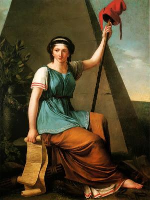 Nadine Villain, suffisemment réputée en ces temps révolutionnaires, pour obtenir une commande officielle de cette allégorie de la Liberté.