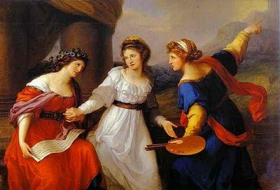 De nouveau Maria Anna Angelica Kaufmann, partagée entre ses muses.