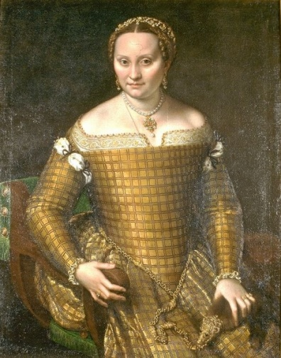 Anguissola, attention remarquable pour la texture du vêtement de son modèle : Bianca Ponzoni.