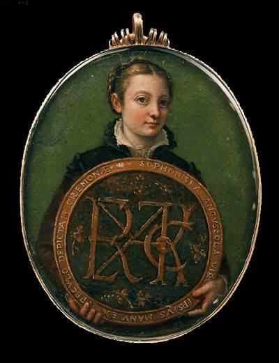 Encore S. Anguissola, mise en abyme du portrait et du cadre avec virtuosité remarquable. Modernité de la coiffure, des vêtements...16e siècle.