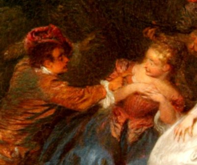 Watteau, Fête champêtre..détail..