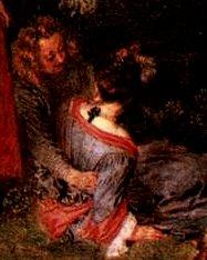 Watteau, l'amour pacifique, détail