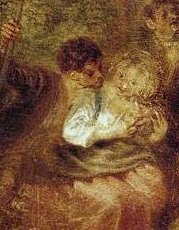 Watteau, le plaisir partagé...plus calme, mais même visage