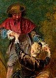 Watteau, pélerinage à Cythère, Détail, de nouveau la même scène obsessionelle