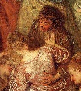 """Watteau, le festival de l'amour....Un double exact du """"faux pas""""..."""