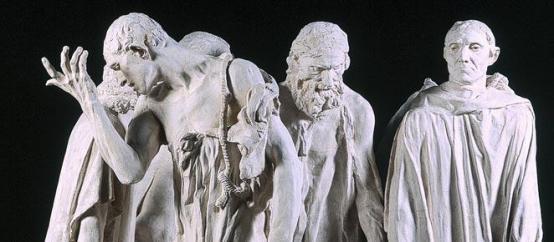 L'ensemble des Bourgeois est sans doute l(oeuvre montrant le plus clairement l'intérêtde Rodin pour la relation des parties au tout. Notion d'ensemble articulé.