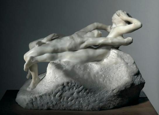 Fugit amor...une version en marbre exprimant clairement le déploiement le plus audacieux dans l'espace, l'expansion..