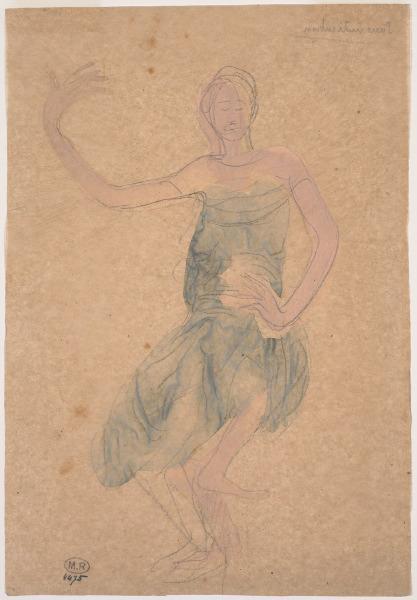 l'une des dizaines d'esquisses de danseuses orientales qui fascinèrent tant Rodin.