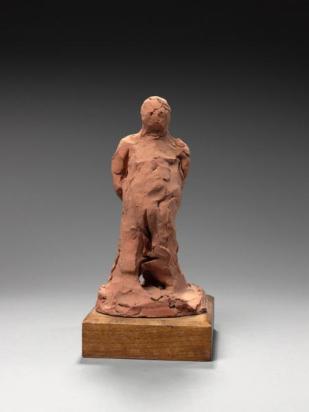 cette étude pour Balzac montre l'intérête évident de Rodin pour la plasticité de la terre et ses recherches de maléabilité des matériaux, à l'opposé de la taille, des pierres, de la dureté des bronzes.