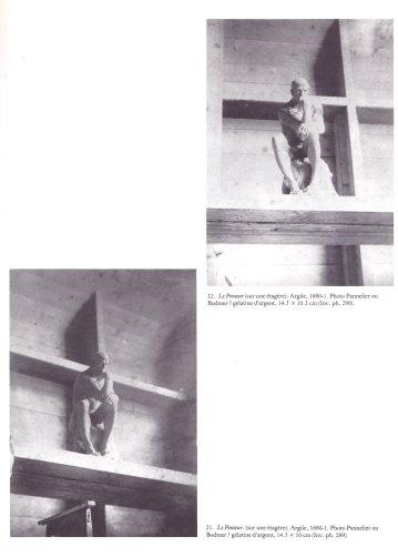 photos d'atelier, commandées par Rodinen vue de mise en scène du Penseur, selon un effet de jeux d'ombres précisément étudié.