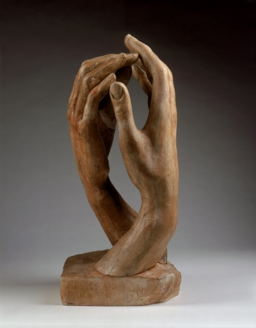 Rodin, Cathédrale..c'est ainsi qu'il baptise cette oeuvre ; rencontre de structures humaines essentielles et les croisées d'ogives monumentales..