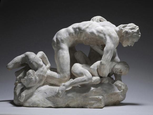 Ugolin, version en marbre, ombres intérieures ; signes d'un drame intime. Compression au lieu d'expansion...